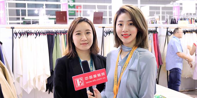 2018秋冬面辅料展:专访无锡鼎球绢丝纺有限公司总经理助理周安霓