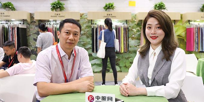 2019面辅料展:专访湖北精华纺织集团有限公司陈前美